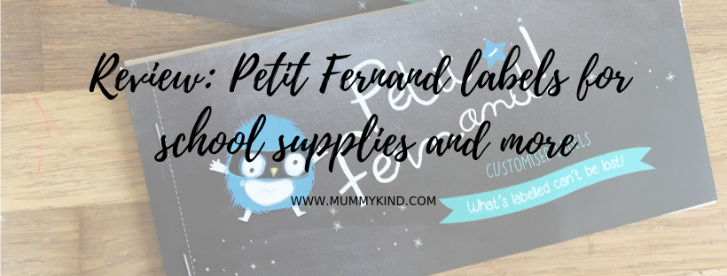 Review of Petit Fernand labels for school supplies andmore!