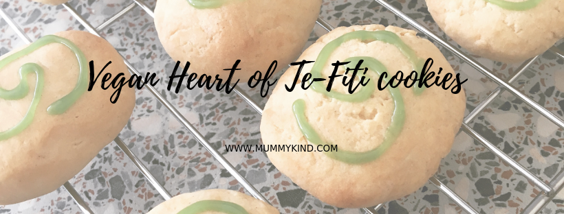 Vegan Heart of Te Fiti cookies