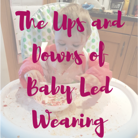 #The ups and downs of baby led weaning