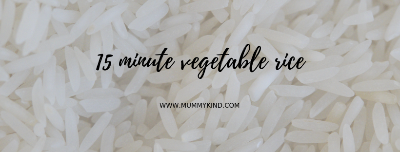15 minute vegetable rice